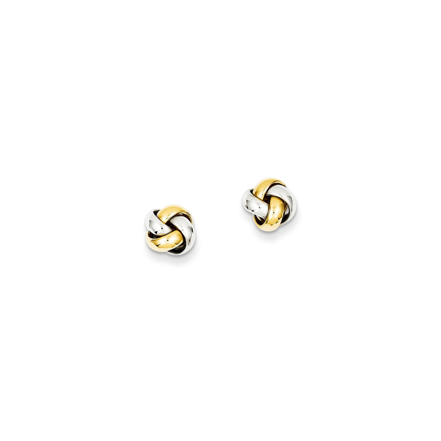 Roy Rose Jewelry 14K Two-tone Gold Knot Post Earrings