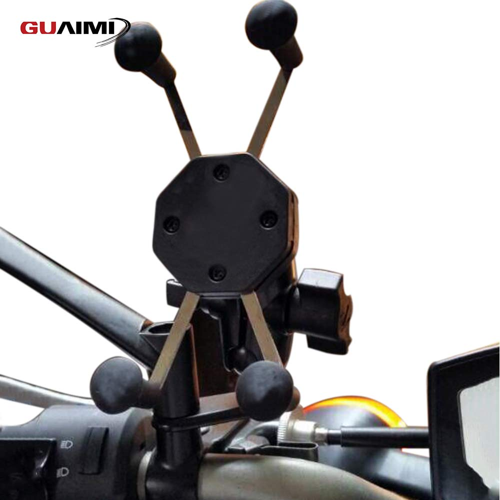 GUAIMI Motorcycle Phone Mount Holder Bracket RearView Mirror Mount For Yamaha FZ8 10-14 YZF-R25 14-18 YZF-R3 15-18 Kawasaki Z750 04-12 Z800 13-16 Z1000 10-18 Z250 13-16 Z300 15-18 Z125 16-18