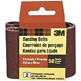 3M 9252NA-2 2-1/2'' X 16'' Coarse Power Sanding Belts 2 Pack