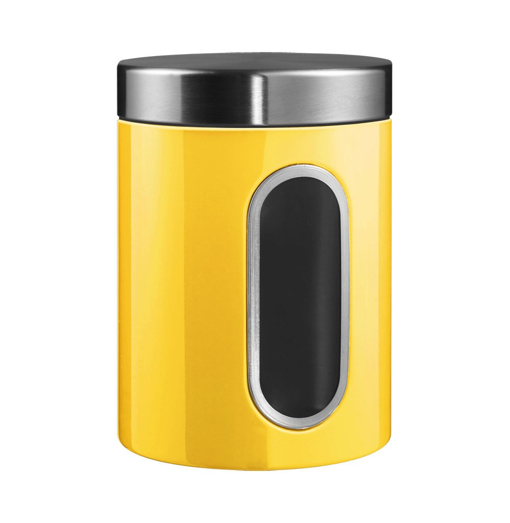 Wesco Canister with Window–2L yellow