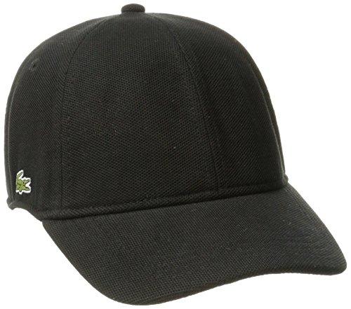 Lacoste Men's Cotton Pique Cap, Black, M (Lacoste Hats For Men)