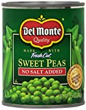 Del Monte Sweet Peas, No Salt Added, 8.5 Ounce (Pack of 12)