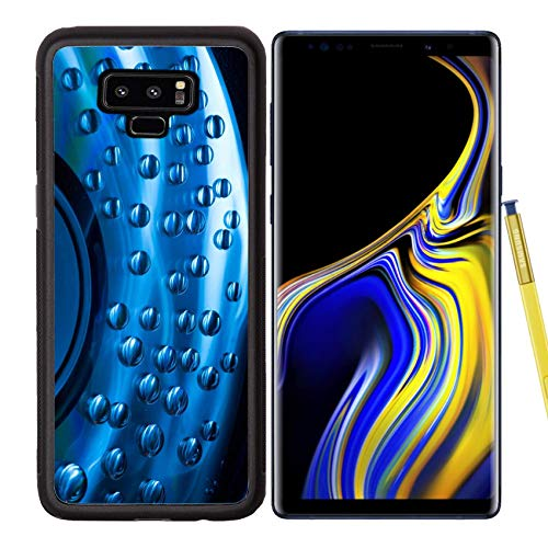 Luxlady Samsung Galaxy Note 9 Case Aluminum Backplate Bumper Snap Cases Image ID: 22998394 Abstract Music Background Colorful Water Drops on CD DVD disc