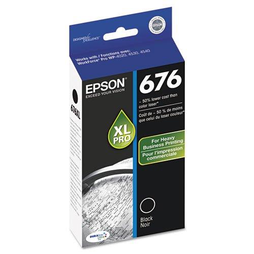 Epson WorkForce Pro WP-4520 Black Ink Cartridge (OEM) 2,400 Pages -  T676XL120