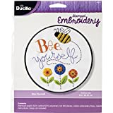 Bucilla Stamped Embroidery Kit, 8-Inch, Bee Yourself