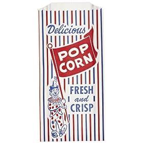 Bagcraft Papercon 300471 Pinch Bottom Popcorn Bag with Clown Design, 1-lb Capacity, 8″ Length x 4″ Width x 1-1/2″ Height (Case of 1000)