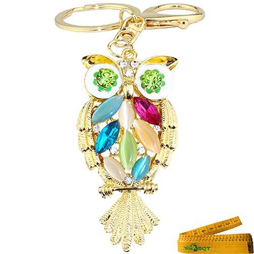 Bling Bling Metal Crystal Rhinestone Artificial Jewel Keychain Car Phone Purse Bag Decoration Holiday Gift Owl