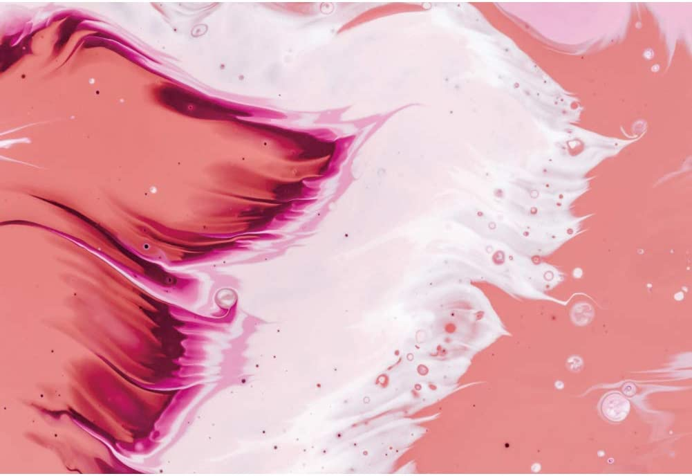 YEELE Pink and White Decorative Photography Backdrop Abstract Fluid Art Marble Artistic Portrait Background Wedding Birthday Western Geographical Theme Photoshoot Prop Photo Booth Wallpaper 5x3ft