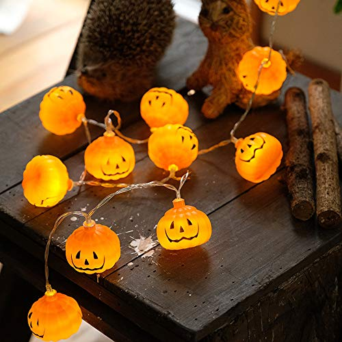 Sujing Halloween String Lights Pumpkin Lights,Halloween Pumpkin String Lights, Holiday Party Terror Wall Hanging Decoration,3D Night Lamp for Outdoor Indoor -