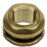 RAINPAL BBF010RH Brass Bulkhead Tank Fitting (Female 3/4