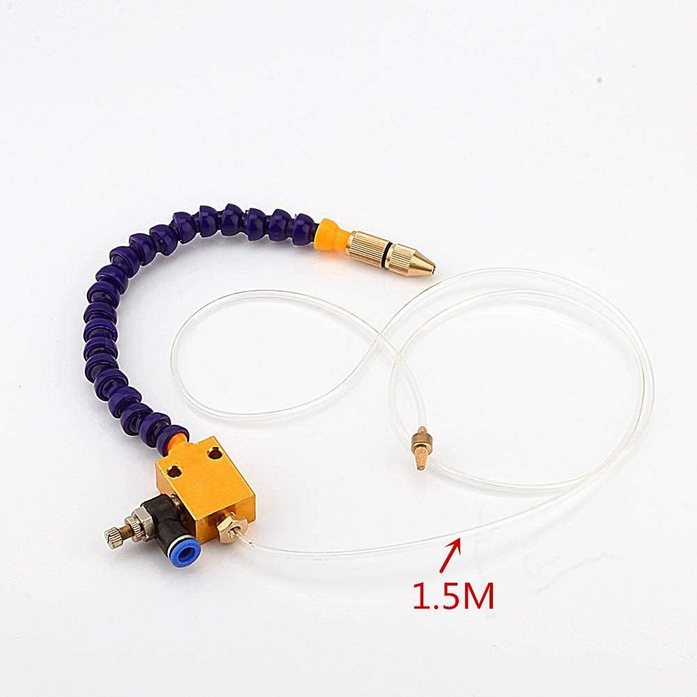 Mist Coolant Lubrication Spray System Sprayer Metal Hose Used for Metal CNC Lathe Milling Drill Grind Machine Processing New