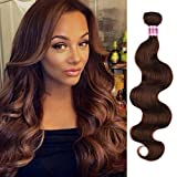 8A Peruvian Virgin Body Wave Weave Bundles Deal Remy Silk Body Wave Hair Extensions Medium Abburn Pure 30# Color 100g/Bundle 20Inch