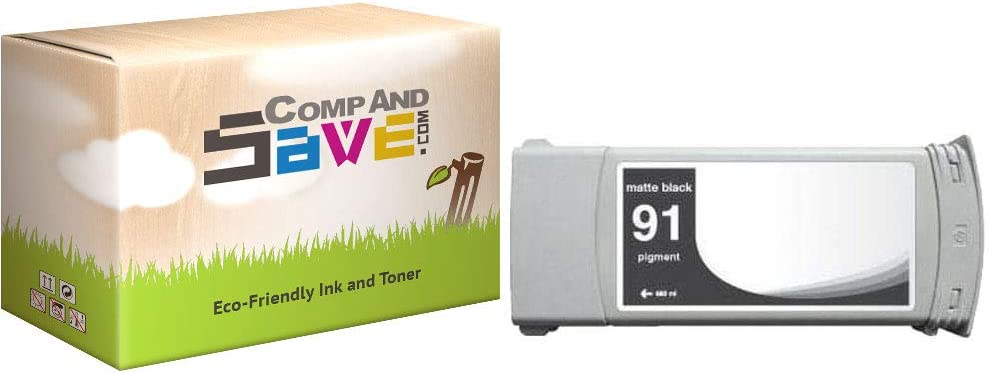 CompAndSave Replacement for HP 91 C9464A Matte Black Ink Cartridge