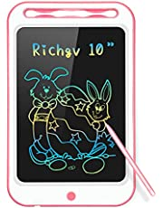 Richgv Upgrade 10 Inch LCD Writing Tablet, Electronic Drawing Board Graphic Tablets with Memory Lock, Handwriting Paperless Notepad Suitable for Home Job School Office Blackboard, Birthday Gifts