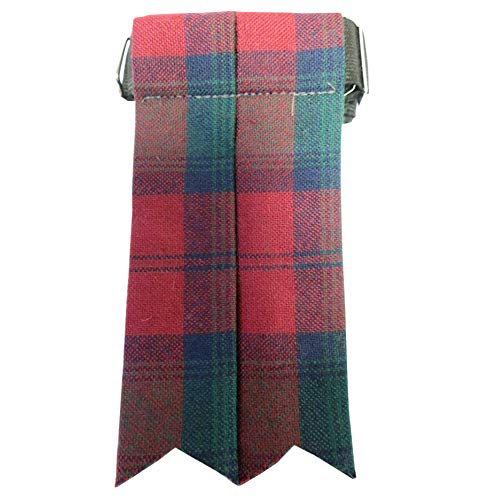 Lindsay Tartan - Ingles Buchan Mens Worsted Wool Scottish Tartan Sock Flashes Lindsay