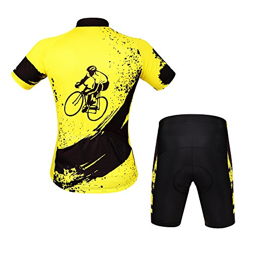 WOSAWE Mens Breathable Cycling Jersey 4D Padded Breathable Quick Dry d7c258c7f