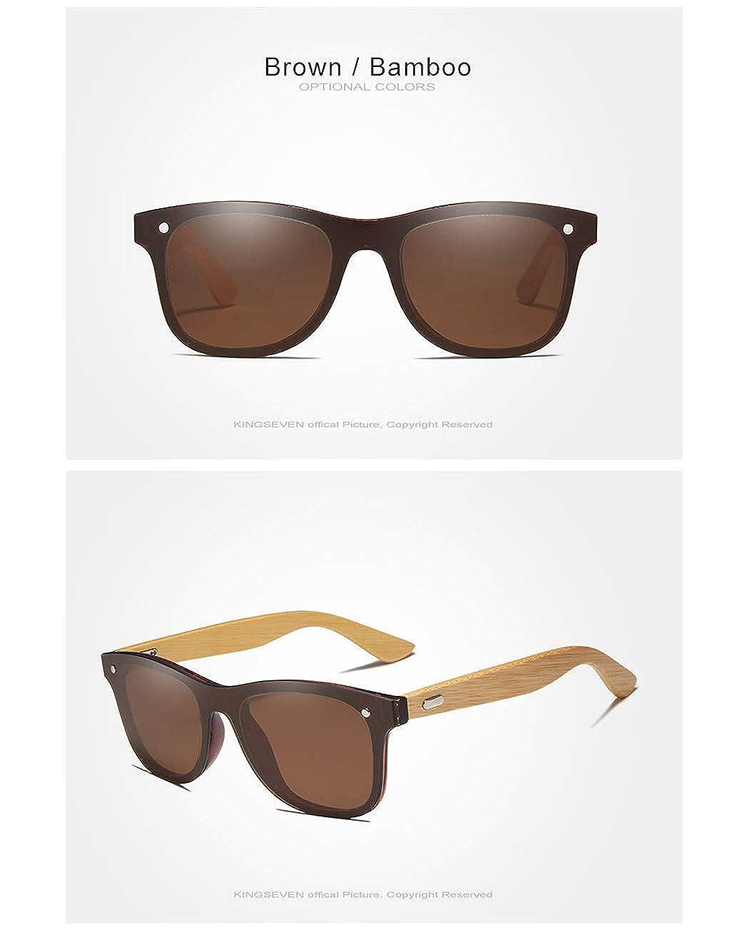 Bamboo Polarized Sunglasses Men Wooden Sun glasses Women Brand Original Wood Glasses Brown bamboo