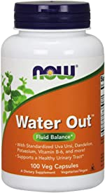 NOW Supplements, Water Out With Standardized Uva Ursi, Dandelion, Potassium and