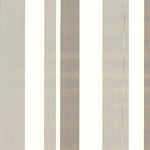 Beacon House 493-ITB031 Amira Ivory Horizontal Multi Stripe Wallpaper, Gold