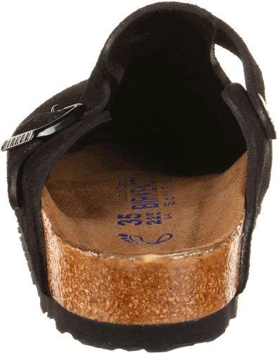 Birkenstock Unisex Boston Soft Footbed, Black Suede, 36 N EU by Birkenstock (Image #2)