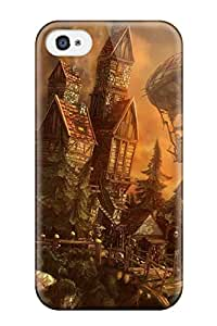 Hot Premium Tpu Flying Contraptions Cover Skin For Iphone 4/4s
