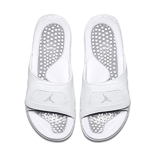 34dd3d838 Jordan Nike Men s Hydro IV Retro Off White Metallic Silver Sandal 13 Men US  - Buy Online in Oman.
