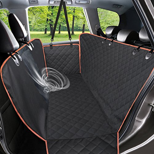 Babyltrl Dog Seat Covers, Pet Car Seat Cover with Mesh Window, Waterproof & Nonslip Hammock Convertible, Scratch Proof Side Flaps Machine Washable Back Seat Cover for Cars Trucks and SUVS by Babyltrl