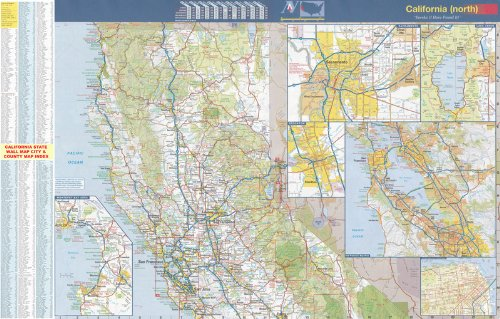 48x68 Northern California Official Executive Laminated Wall Map