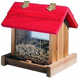 North States Hanging Platform Birdfeeder- Red Roof