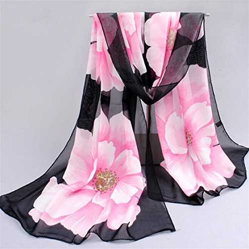 TraveT Pretty Flowers Flower Chiffon