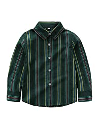Jwhui Baby Kids Boys Long Sleeve Striped Shirt Clothes Outfit Infant Children's Clothing Boy Wear