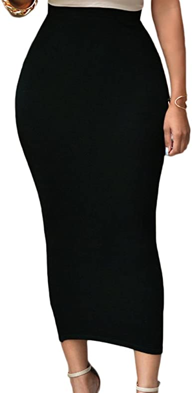 Lrady Women's High Waist Slim Bodycon Party Club Night Out Maxi Long Pencil  Skirts at Amazon Women's Clothing store