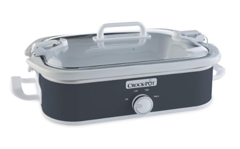 3.5-Quart Casserole Crock Manual Slow Cooker, Charcoal (Pack of 2)