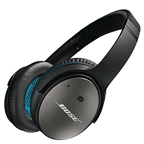 Bose QuietComfort 25 Acoustic Noise Cancelling Headphones for Apple Devices, Black (Renewed)
