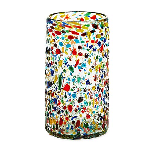 Bambeco 16 OZ Confetti Recycled Pint Glass - Set of 4