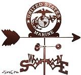 ARMED SERVICES US MARINES MARINE CORP USMC FLAT POST Mount Weathervane