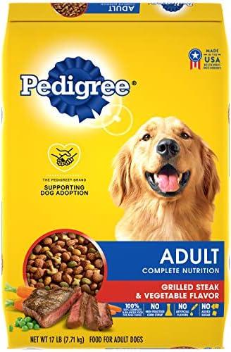 PEDIGREE Adult Complete Nutrition Grilled Steak Vegetable Flavor Dry Dog Food 17 Pound