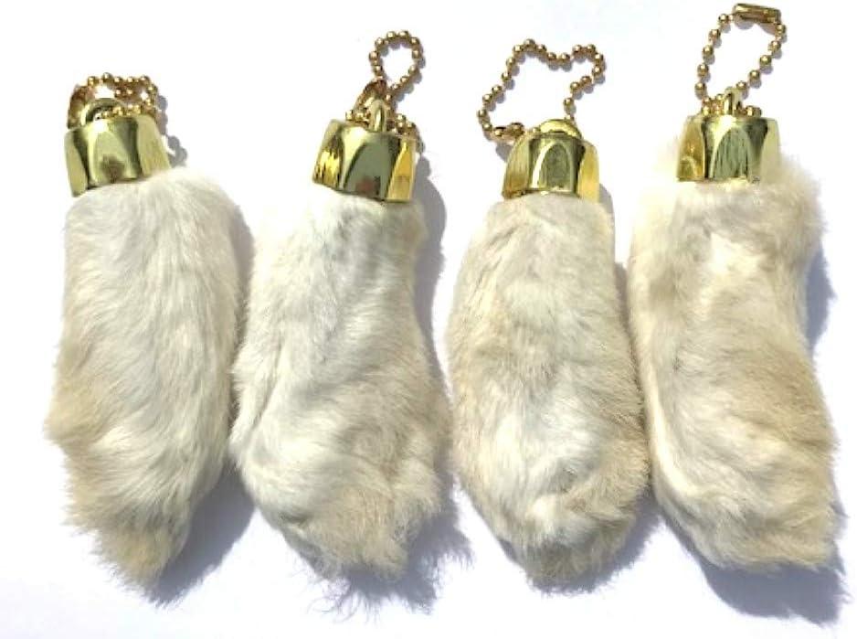 GENUINE Real Lucky Rabbit\u2019s Foot Keychain set of 12