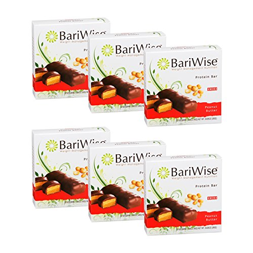 BariWise Protein Bar/Diet Bars - Peanut Butter (7ct) 6 Box Value-Pack (Save 10%) High Protein, Low Fat, Gluten Free, Aspartame Free