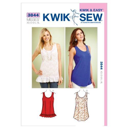 Kwik Sew K3844 Tops Sewing Pattern, Size XS-S-M-L-XL by KWIK-SEW PATTERNS