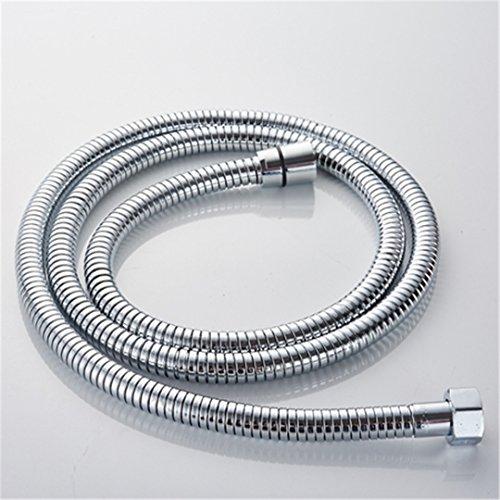 HANGESA Stainless Steel Hand Shower Set Polished Shower Hose Shower+ Mounting Bracket+ Hand Shower shower hose only