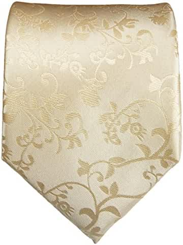 Paul Malone Wedding Tie . 100% Silk . Woven . Champagne Vines
