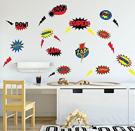 Amazon Com Create A Mural Boys Wall Decals Superhero Room