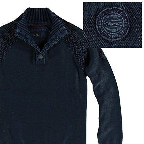 engbers Herren Troyer-Pullover, 24632, Blau