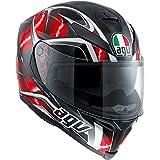 AGV K5 Adult Hurricane Street Motorcycle Helmet - Black/Red/White / Small/Medium