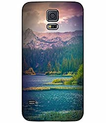 Beautiful Mountains and Lake View Plastic Phone Case Back Cover Samsung Galaxy S5 I9600