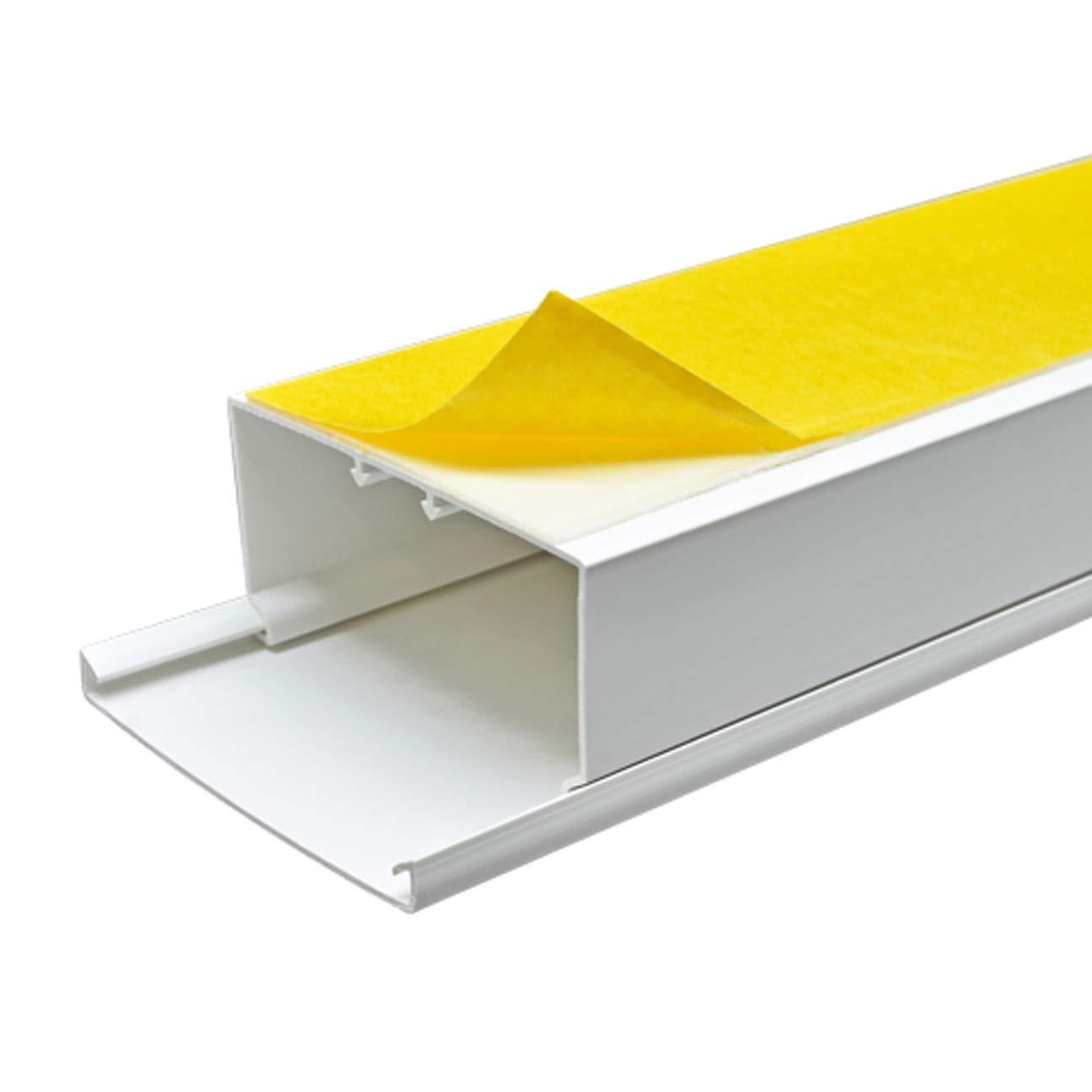StilBest® 50m Kabelkanal [L x B x H H H 200x6,0x6,0 cm, PVC, Selbstklebend, weiß] Kabeldurchführungssystem   Kabelleiste   Kabelschlauch   Kabelrohr B07PPJ47FL | Modern Und Elegant  f3d351