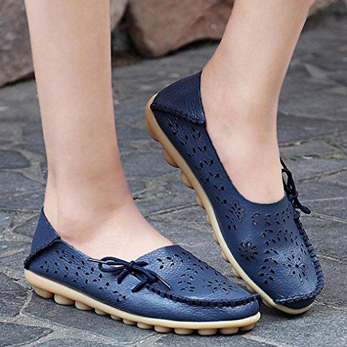 otoño planos azul sandalias para mujer verano planos de casual estilo mujer Beijing zapatos Zapatos TUDUZ barco Ta8Awpq