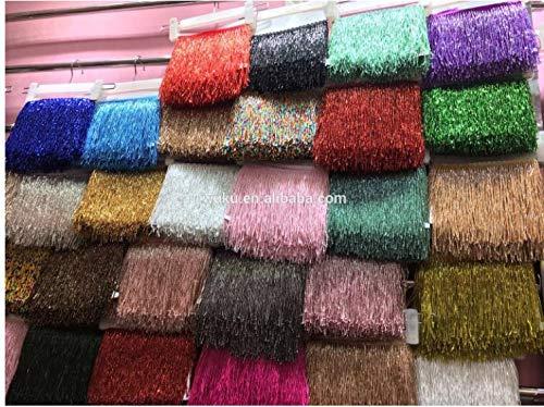 Dalab 15 cm Width Beads bugles Fringe Tassel for Dress Decoration 5-6 Yard Packing a Bag