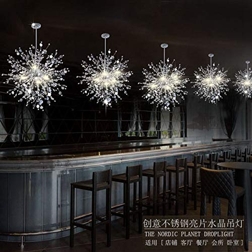 FidgetGear Modern Creative Crystal Dandelion LED Chandelier Pendant Lamp Ceiling Lights White 8 LED / 24W by FidgetGear (Image #3)